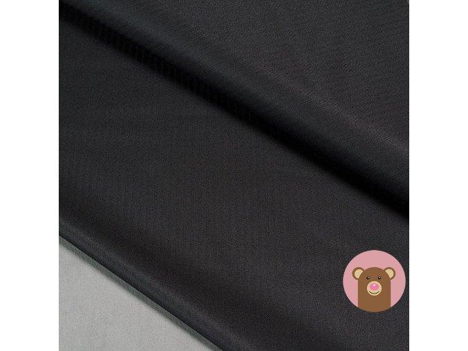 Zimní softshell fleece Rybí kost - černá