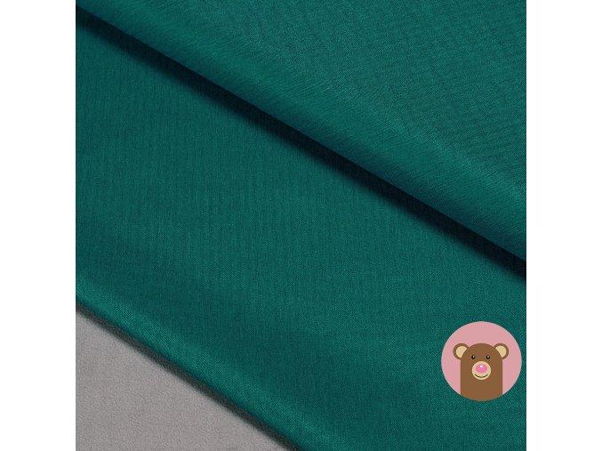 Zimní softshell fleece Rybí kost - zelenomodrá