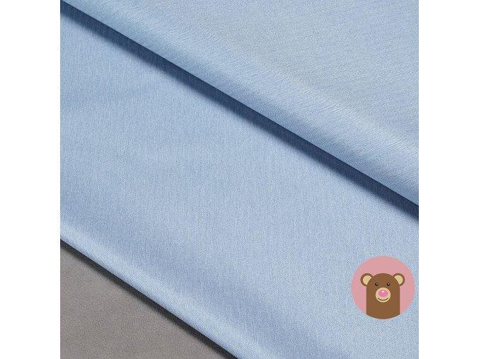Zimní softshell fleece Rybí kost - světle modrá