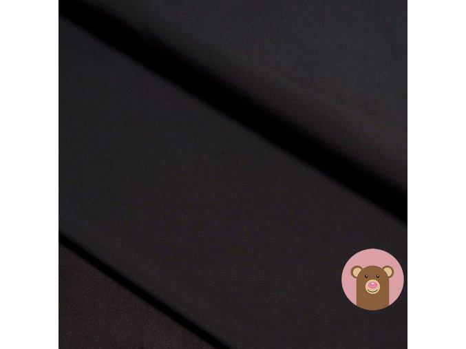 Zimní softshell s fleecem - černá