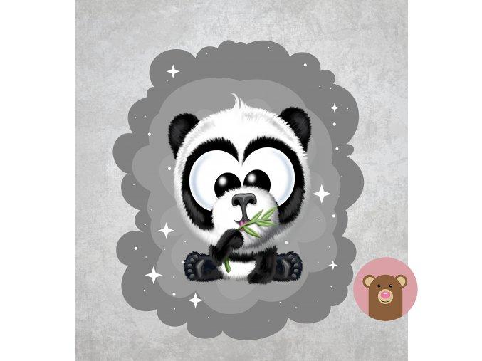 panda šedá