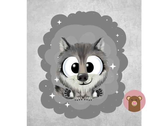 vlk šedá