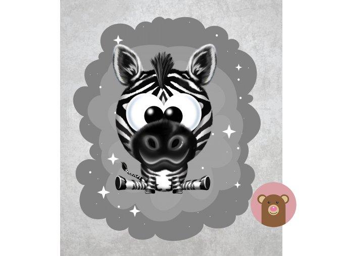 zebra šedá