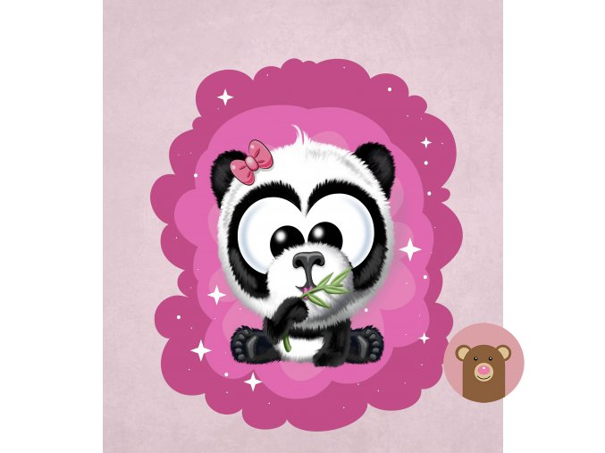 panda růžová