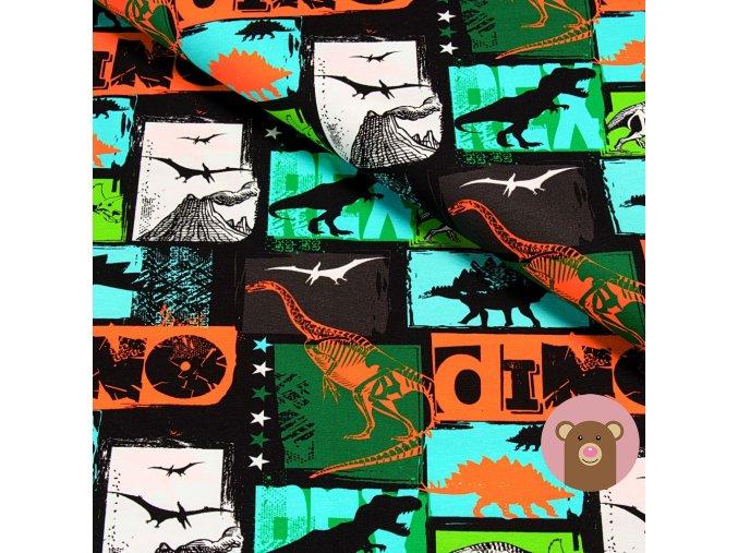 teplákovina Dino na zelené