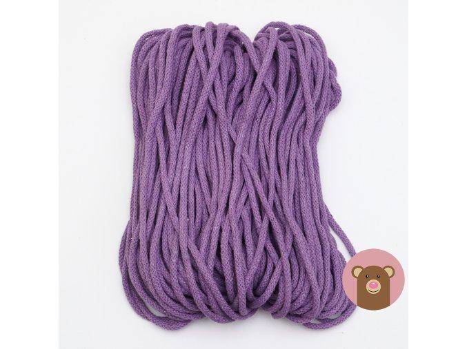 Šňůrka fialová 5 mm