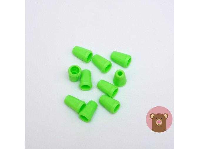 Koncovka svítivě zelená