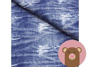 teplákovina Potrhaný jeans