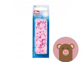 """Patentky """"Color snaps 12.44mm"""" PRYM LOVE - světle růžová"""