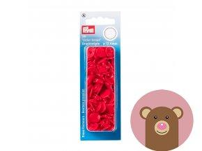 """Patentky """"Color snaps 12.44mm"""" PRYM LOVE - červená"""