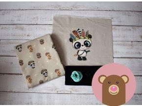 Balíček Panda s černým nápletem