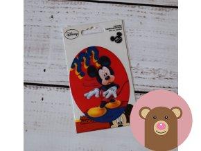nažehlovačka Mickey na červené 2 - 10,5cm x 8cm