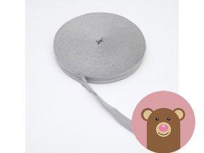Lemovací pruženka půlená 19mm - světle šedá