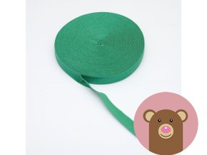 Lemovací pruženka půlená 19mm - zelená