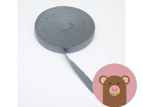 Lemovací pruženka půlená 19mm - tmavě šedá