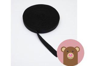 Lemovací pruženka půlená 25mm - černá