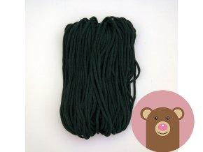 Šňůrka tmavě zelená 5 mm