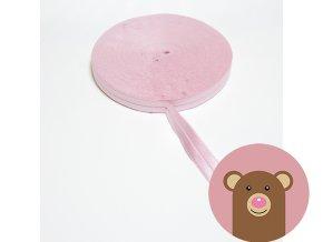 Lemovací pruženka půlená 19mm - světle růžová