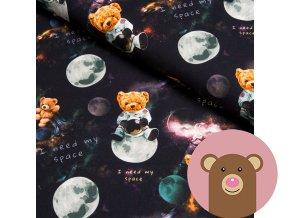 teplákovina medvídek ve vesmíru
