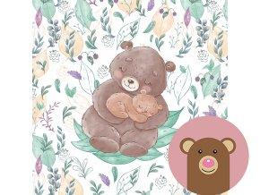 4973 1 panel medvidek s mladetem