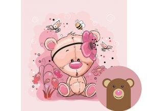5012 1 panel medvidek s kytickou