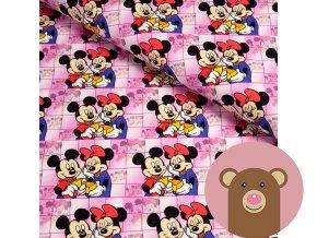 teplákovina Mickey a Minnie na růžové