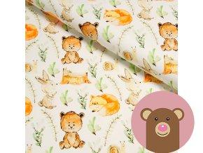 teplákovina medvídci a lišky