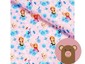 teplákovina Elsa a Anna na růžové
