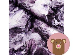 5845 2 teplakovina rozpite barvy fialove
