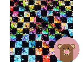 6019 3 teplakovina barevne kosticky s hvezdickama