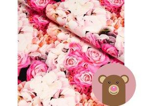 6364 teplakovina ruze a hortenzie