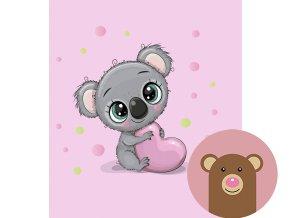 koala na růžové