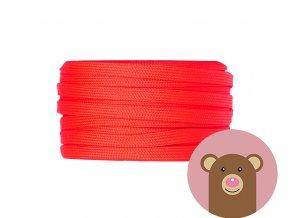 6535 snura plocha dutinka cervena sire 10 mm