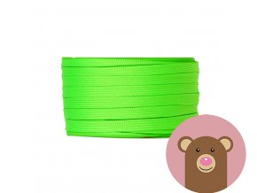 6538 snura plocha dutinka neon zelena sire 10 mm