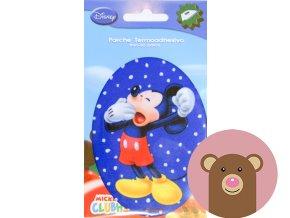 nažehlovačka Mickey na modré - 10,5cm x 8cm