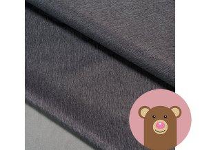 Zimní softshell fleece Rybí kost - šedá