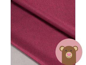 Zimní softshell fleece Rybí kost - vínová