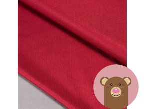 Zimní softshell fleece Rybí kost - tmavě červená
