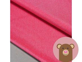 Zimní softshell fleece Rybí kost - fuchsie