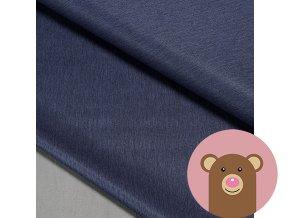 Zimní softshell fleece Rybí kost - tmavě modrá