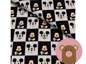 teplákovina Mickey - šachovnice