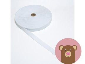 Tkaná guma do pasu 2 cm - bílá
