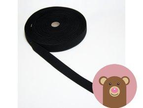 Tkaná guma do pasu 2 cm - černá