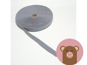 Tkaná guma do pasu 2 cm - světle šedá