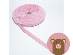 Tkaná guma do pasu 2 cm - světle růžová