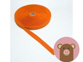 Tkaná guma do pasu 2 cm - oranžová