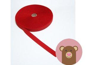 Tkaná guma do pasu 2 cm - červená