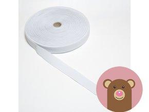 Tkaná guma do pasu 2,5 cm - bílá