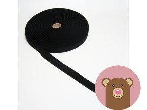Tkaná guma do pasu 2,5 cm - černá