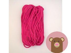 Šňůrka tmavě růžová 5 mm